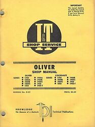 Oliver Cockshutt See Picture 2 For Models Tractors I+t Shop Manual O-21