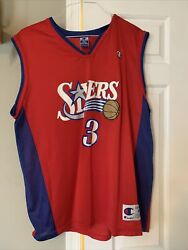 Aleen Iverson Jersey Red Size 44
