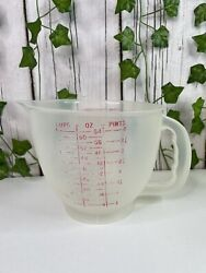 Vtg Tupperware 500 Mix N Store 8 Cup 2 Liter Measuring Pitcher W/ Spout No Lid