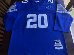 Mitchell And Ness Barry Sanders 20 Throwback Detroit Lions Jersey Sz 54