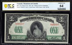 1917 Dominion Of Canada 1 In Stunning Choice Unc 64