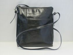 Hobo Women#x27;s Black Leather Crossbody Bag Purse $42.95