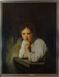 Kremer After Rembrandt - 20th Century Oil Girl At A Window