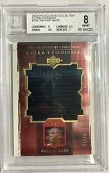2003-04 Exquisite Collection Dwyane Wade Extra Exquisite Bgs 8 Nm-mt 66/75 Heat