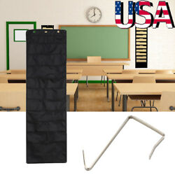 Wall Hanging File Organizer 10 Storage Pockets amp; 3 Hangers Classroom Office