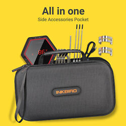 Inkbird Digital Bbq Thermometer Bluetooth Grill Tool Probes + Hard Carrying Case
