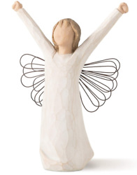 Willow Tree   Courage Angel Figurine Rare Retired Lordi New In Box Ships Free