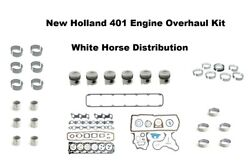 Engine Overhaul Kit Std Fits New Holland Tw15 Tractor With 401 Engine
