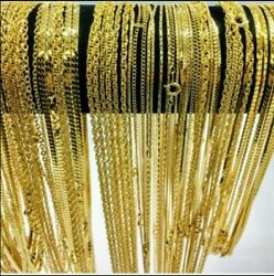 Lot Of 100 Pices 14k Gold Plated Necklaces And Bracelets