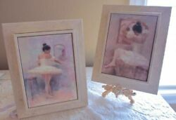 French Apartment Set Of 2 Hand Painted Ballerina Raised Wall Decor Plaques