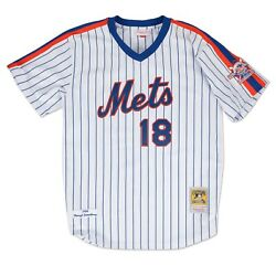 New York Mets Darryl Strawberry Mitchell And Ness White Mlb 1986 Authentic Jersey