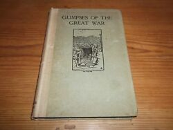 Book Ww1 Glimpses Of The Great War George Whyte Signed Letter Wife Ethel 1919