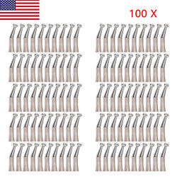 100 Dental Low Speed Contra Angle Handpiece Push External Water Nsk Style F9