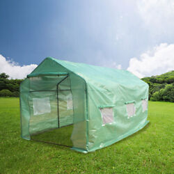15′x7′x7′portable Greenhouse Tent Large Green Garden Hot House Plant Growth Tent