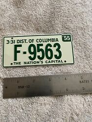 1955 Wheaties Cereal Miniature Bike Bicycle License Plate District Colombia D.c.