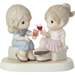 New Precious Moments Porcelain Figurine Friendship Sisters Girls Wine Party