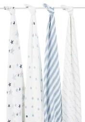 Aden + Anais Classic Swaddle 4 Pack Rock Star Free Shipping