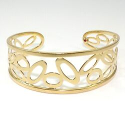 Roberto Coin 18k Yellow Gold Chic And Shine Cuff Bracelet Italy Ljb2