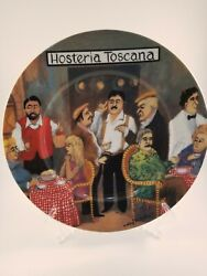 Williams Sonoma Tuscan Storefronts Hosteria Toscana Dinner Plate Guy Buffet Mint
