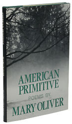 American Primitive Mary Oliver First Edition 1st Print Pulitzer Prize 1983