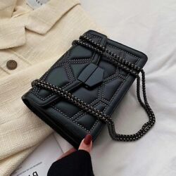 2021 new rivet chain black cute crossbody women#x27;s shoulder luxury messenger bag $16.79