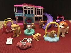 Barbie Deluxe Pet Playset W/ Accessories And Multiple Dog Figures