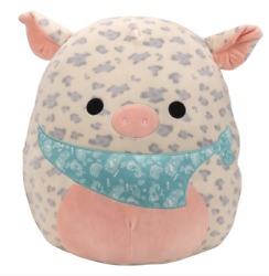 🐷 Rare Squishmallow 16andrdquo Rosie Spotted Pig Easter Bandana Plush Kellytoy 2021