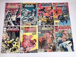 The Punisher Marvel Comic Lot Of 8 1987-1989