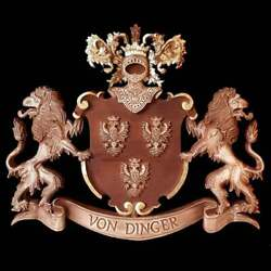 Hand Carved Large Coat Of Arms Custom Family Crest Personalized Family Shield