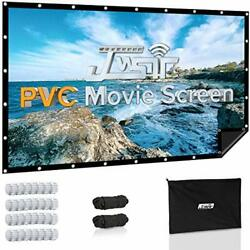 Projector Screen 120in Pvc Black Backing 1.3 Gain 176anddegviewing Outdoor Support 3d
