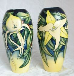Rare - Pair Of Moorcroft Limited Edition Vase By Emma Bossons 2001