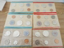 1962,1963 And 1964 Dandp Us Mint Silver Mint Set 30 Coins