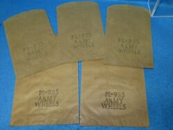 Marx Five Original 1950's Brown Striped Playset Bags Pl-935 -2 Different Sizes