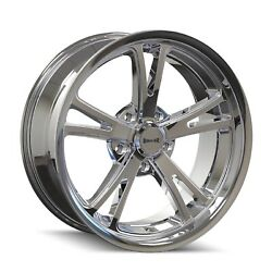 Cpp Ridler 606 Wheels 17x7 + 20x8.5 Fits Dodge Charger Coronet Dart