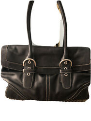 Coach Black Leather SoHo Hobo Women#x27;s Handbag $30.90