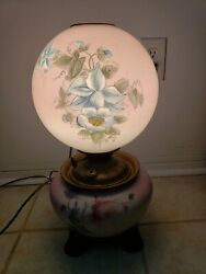 🔥gone With The Wind Parler Victorian Hurricane Globe Lamp, Oil Conversion, 🔥