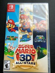 Super Mario 3d All-stars - Nintendo Switch New Factory Sealed Discontinued