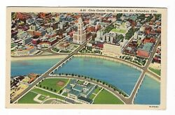 Antique Post Card Civic Center Group From The Air Columbus Ohio