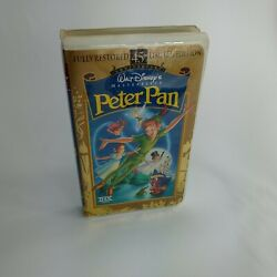 Peter Pan Vhs Disney Masterpiece Collection Rare Paper Label 45th Anniversary