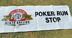 1996 Hog Harley Owners Group State Rallies Poker Run Stop Large Banner Sign