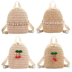 Summer Straw Beach Backpack Rattan Women Lady Fashion Travel Shoulder Bags $12.66