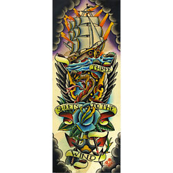 Three Sheets To The Wind By 2 Cents Nautical Traditional Tattoo Fine Art Print