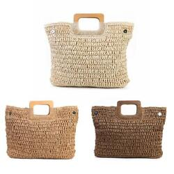 Vintage Large Capacity Totes Women Woven Shoulder Handbags Top handle Bags $17.00