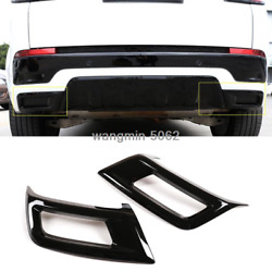Black Abs Exhaust Muffler Tail Pipe Cover For Land Rover Discovery Sport 2020-21