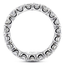 3ct F Si2 Round Earth Mined Certified Diamonds 14k Gold Classic Eternity Band
