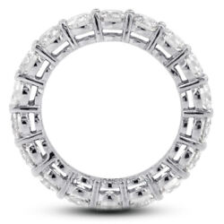 2 Ct I Vs2 Round Cut Earth Mined Certified Diamonds 18k Gold Eternity Ring