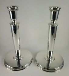 Guldsmeds Aktiebolaget Gab Sweden 800 Swedish Sterling Candle Stick Holders 606g