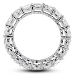 3 Ct F Si1 Round Brilliant Natural Certified Diamonds 14k Gold Eternity Ring