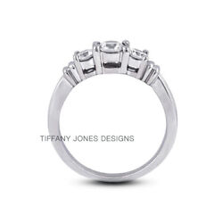1.86ct F-si1 Round Natural Certified Diamonds 18k Vintage Style Engagement Ring
