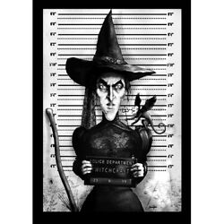 Wicked Witch Mugshot By Marcus Jones Flying Monkey Wrapped Canvas Fine Art Print